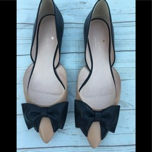 Kate spade 2 color flats with bow size 6.5